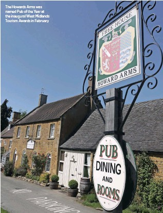 ??  ?? The Howards Arms was named Pub of the Year at the inaugural West Midlands Tourism Awards in February
