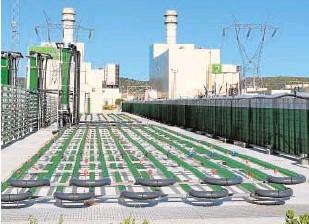 ??  ?? La planta de AlgaEnergy está conectada a un ciclo combinado de Iberdrola