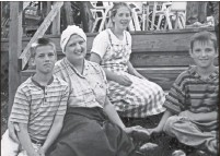 ?? Family photo ?? Kristy Loomis, top, with her mother and brothers in Carson City when they were members of the church.
