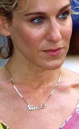 ?? Wireimage ?? De Carrie-halsketting, een iconisch cadeau.