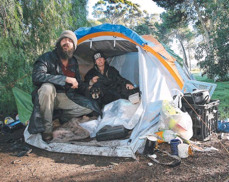 ?? Picture: MIKE BURTON ?? HOMELESSNESS: It's a growing problem that's only going to get worse as charities get stretched.