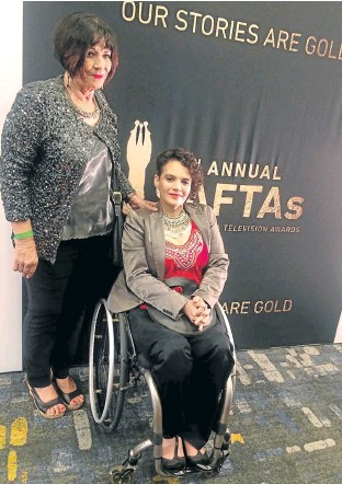 ??  ?? PROUD MOM: Pam Barry, 68, is proud of her daughter, Shelley Barry, 46, one of the Safta winners