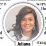 ??  ?? Juliana