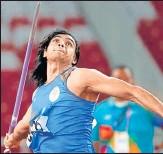 ?? REUTERS ?? Neeraj Chopra is medal prospect at the Tokyo Olympics.