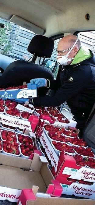 ??  ?? Productos agrarios comercializados por una cooperativa.