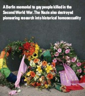 ??  ?? A Berlin memorial to gay people killed in the Second World War. The Nazis also destroyed pioneering research into historical homosexuality