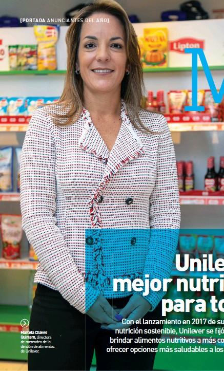 ??  ?? Marcela Chaves Quintero, directora de mercadeo de la división de alimentos de Unilever.