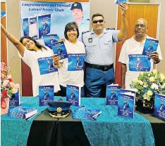 ?? Supplied ?? RETIRED Lieutenant-Colonel Bennie Singh at the launch of his autobiogra­phy, Thirty Eight Years and Nine Months: The Story Of A Career Policeman. |