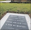??  ?? Whodunit: Minnie Dean's Winton gravesite is no longer a mystery, with the laying of an unofficial headstone.