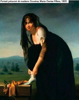 ??  ?? Portrait présumé de madame Soustras, Marie-Denise Villers, 1802.