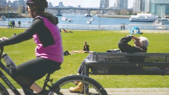 ?? JASON PAYNE ?? Health officials say that while parks are closed, people can still go for walks or ride bikes in their own neighbourhoods on the long weekend while keeping a safe distance from one another.