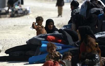 ?? FOTO AFP ?? Vluchtelingen in het kamp in Al-Hol in Syrië.