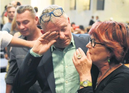 ?? Picture: Neil McCartney ?? LEFT: The Dagga Couple, Julian Stobbs and Myrtle Clarke, after the Constitutional Court ruled the private use and cultivation of cannabis is legal.