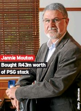 ??  ?? Jannie Mouton Bought R43m worth of PSG stock