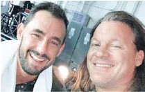 """??  ?? El actor compartió tras bambalinas con Chris Jericho, ex estrella de la WWE. Le pidió autorización para usar el """"codebreaker""""."""