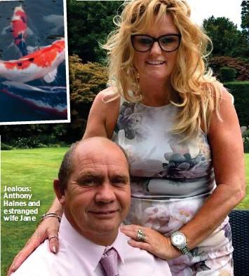 ??  ?? Jealous: Anthony Haines and estranged wife Jane