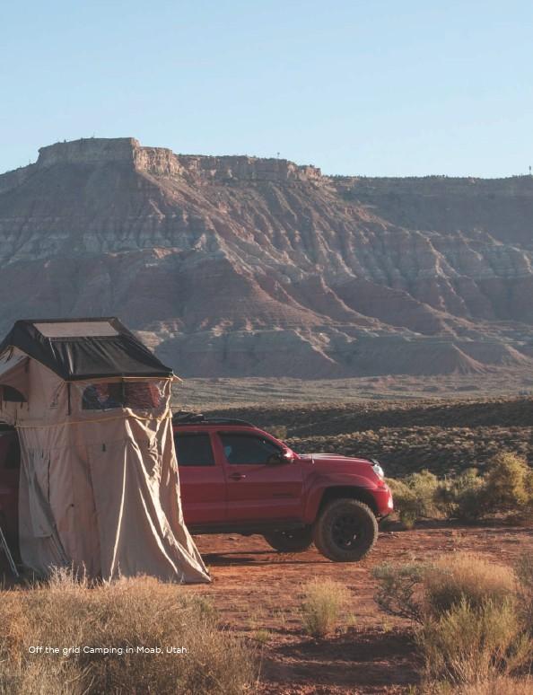 ??  ?? Off the grid Camping in Moab, Utah. Volume 20/5