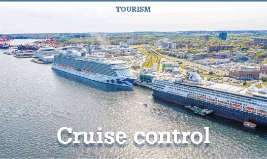 ?? CHRISTOPHER CONNORS • PORT OF HALIFAX ?? Several cruise ships are seen docked in Halifax in this 2019 photo.