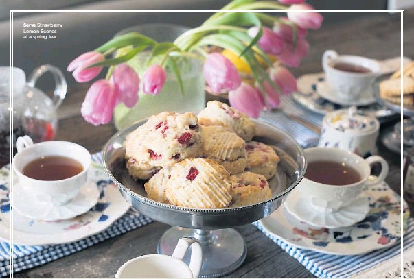 ?? Rex C. Curry/Special Contributor ?? Serve Strawberry Lemon Scones at a spring tea.