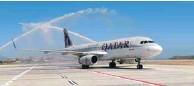 ??  ?? Qatar Airways yesterday resumed regular flights between Doha and Mykonos.