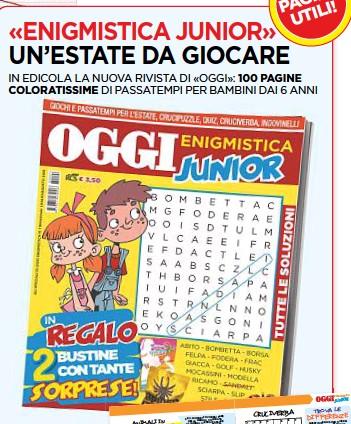 Pressreader Oggi 2018 06 28 Enigmistica Junior Un Estate Da