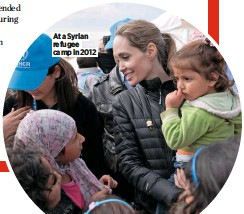 ??  ?? At a Syrian refugee camp in 2012