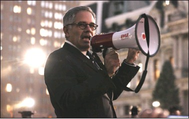 ??  ?? Philly DA: Breaking the Law with Larry Krasner with bullhorn at rally; The Handmaid's Tale with Elisabeth Moss as June