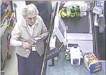 ??  ?? Last photo: Mrs Morriss on a shopping trip. Two days later she was found dead.