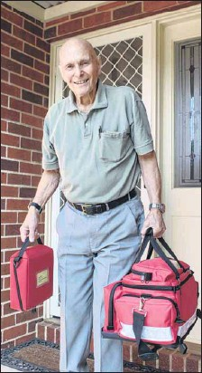 ?? PHOTO: Justin Jenvey ?? ROD TO THE RESCUE: Bright's Rod Incoll is encouraging others with CPR skills to sign up as GoodSAM responders.