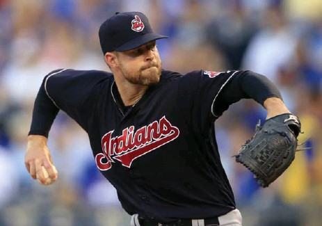?? ORLIN WAGNER/THE ASSOCIATED PRESS FILE PHOTO ?? Cleveland Indians starting pitcher Corey Kluber has an earned-run average of 1.77 since coming off the disabled list on June 1.