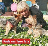 ??  ?? Paola con Teo e Tula