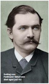 ??  ?? Setting son: Ferdinand Schumann died aged just 42