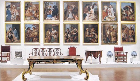 ?? Philadelphia Museum of Art ?? FOURTEEN of the 16 casta paintings in Miguel Cabrera's 1763 set were reunited for an exhibit at the Philadelphia Museum of Art in 2006. Such works explored the theme of miscegenation, or interracial marriage, among Indians, Spaniards born in Spain,...