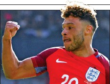 ??  ?? STRONG AS OX: Oxlade-Chamberlain grabbed England's opener