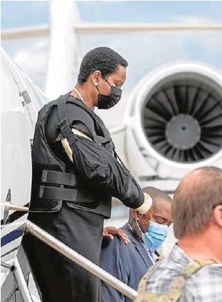 ?? // EFE ?? Martine Moïse, viuda del presidente haitiano, a su llegada a Puerto Príncipe