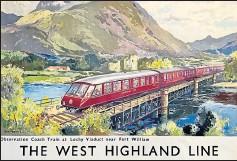??  ?? Artist Jack Merriott's West Highland Line poster sold for £600