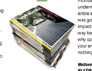 ??  ?? Michael's takeoff tale has earned him the next 12 issues of Wheels magazine on us LETTER OF THE MONTH PRIZE