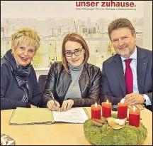 ??  ?? Mutter Ingrid, Verena und Stadtrat Michael Ludwig