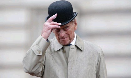 ?? Photograph: WPA/Getty Images ?? Prince Philip, Duke of Edinburgh, attending his final individual public engagement at Buckingham Palace in 2017.
