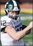 ?? CARLOS OSORIO — THE ASSOCIATED PRESS ?? New Michigan State starting quarterbac­k Rocky Lombardi is off to a productive start this season.