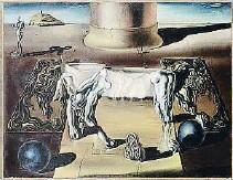 ?? SALVADOR DALÍ, FUNDACIÓ GALA-SALVADOR DALÍ / ADAGP, PARÍS, 2017 ?? La doble imagen.Una de las primeras pinturas en París es esta de 1930 Dormeuse, cheval, lion invisibles, donde juega con las visiones paranoicas