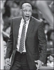 ?? Alex Gallardo Associated Press ?? CLIPPERS COACH Doc Rivers, above, says he saw Tyronn Lue's head coaching potential early on.