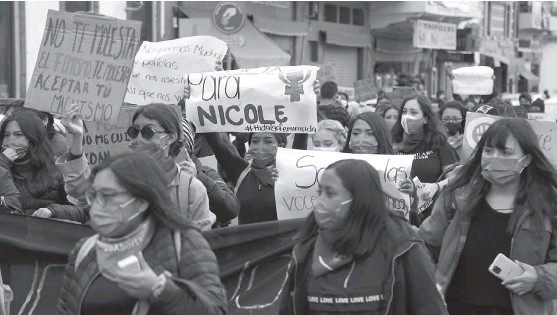 ?? JORGE SÁNCHEZ ?? Las asociaciones feministas han sido parte fundamental en la atención de los casos de violencia.