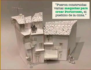 """??  ?? """"Fueron construidas varias maquetas para crear Portorosso, el pueblito de la cinta."""""""
