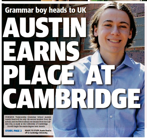 Austin Earns Place At Cambridge Pressreader