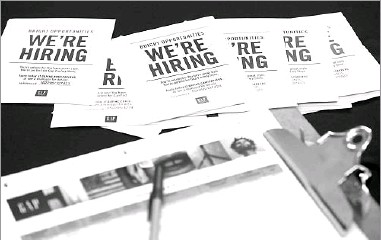?? 2015 File Photo/The Associated Press ?? The Labor Department said Tuesday that job openings rose 2.1 percent in February to a seasonally adjusted 5.7 million. Hiring fell 2 percent from January to 5.3 million. Job openings have increased 3.2 percent in the past year.