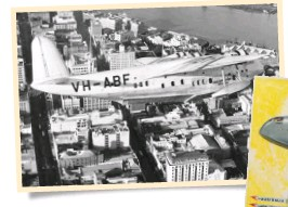 ??  ?? Southern Sun's journey was an attempt to follow the 10-day Qantas Empire Airways/Imperial Airways route of the 1930s from Sydney to London, and the Imperial/Pan Am route from London to New York.