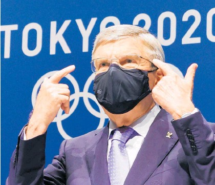?? Photo / AP ?? IOC President Thomas Bach has dismissed Japanese fears as the Olympics roadshow rolls in.
