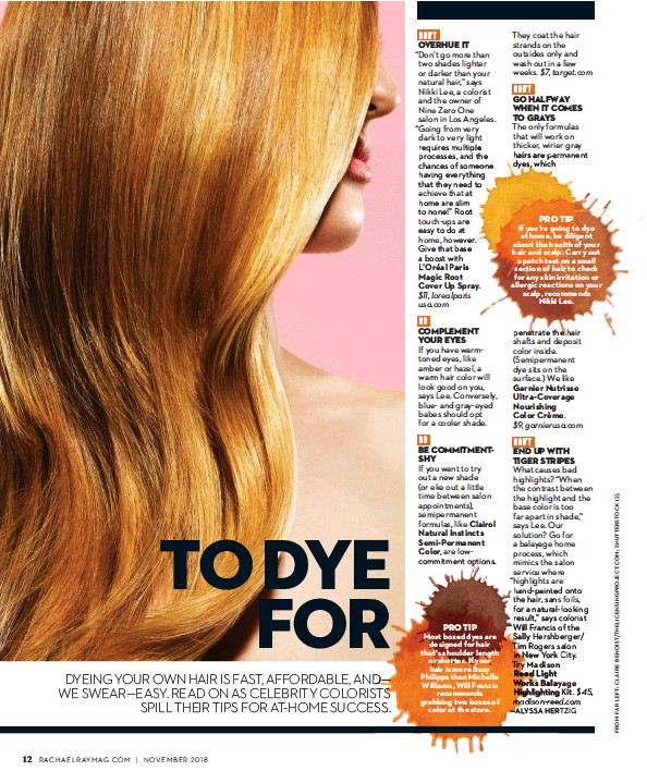 PressReader - Rachael Ray Every Day: 2018-11-01 - TO DYE FOR
