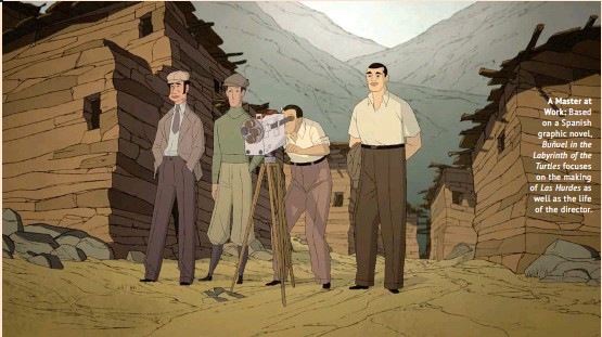 ??  ?? A Master at Work: Based on a Spanish graphic novel, Buñuel in the Labyrinth of the Turtles focuses on the making of Las Hurdes as well as the life of the director.